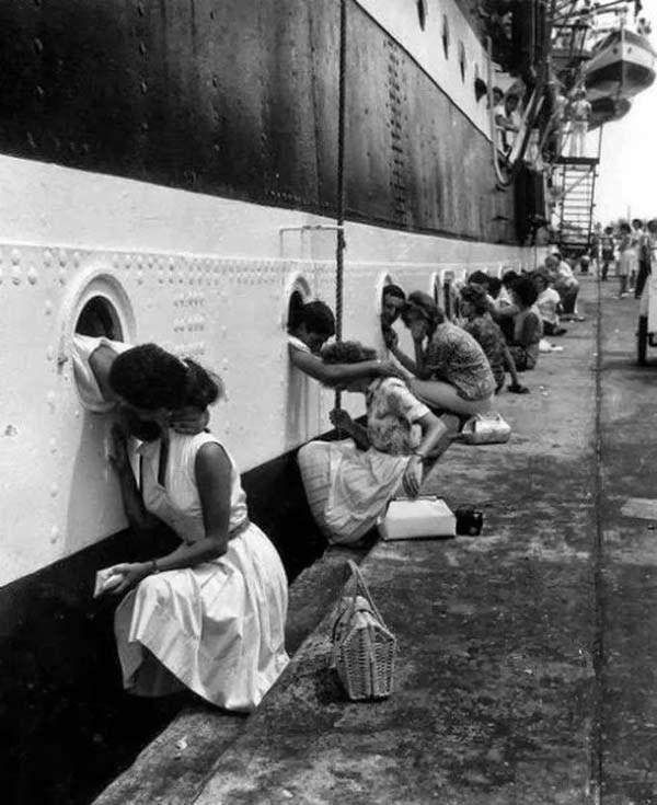 besos de chicas a sus novios antes de la segunda guerra mundial