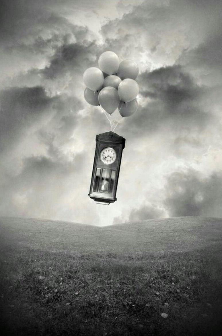 relojes con globos