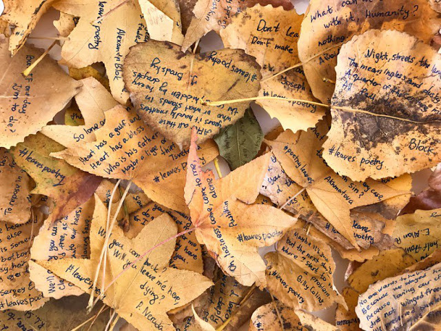 hojas secas en poemas
