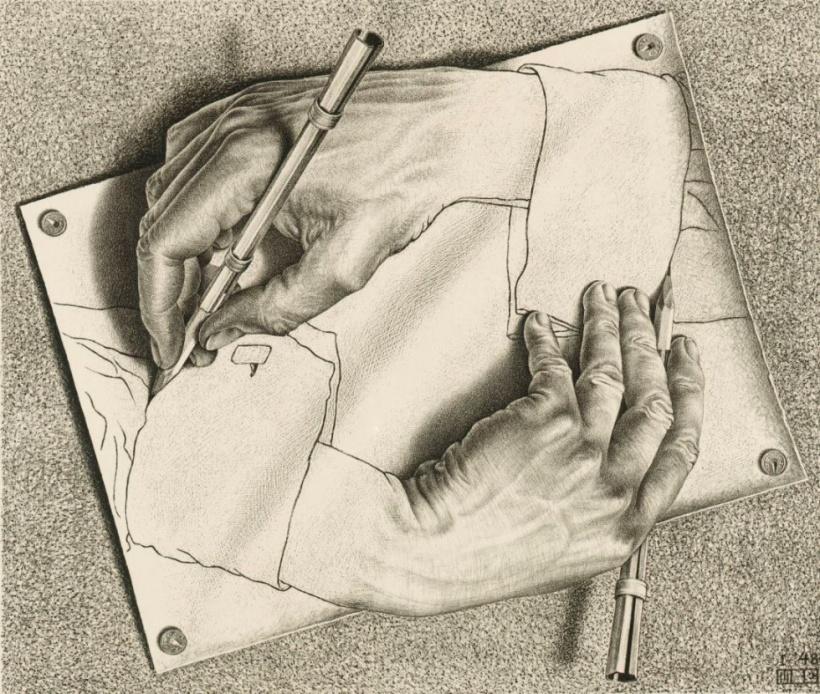 mano sobre mano
