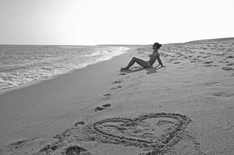 Pilu en la playa