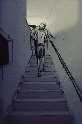 subir por las escaleras