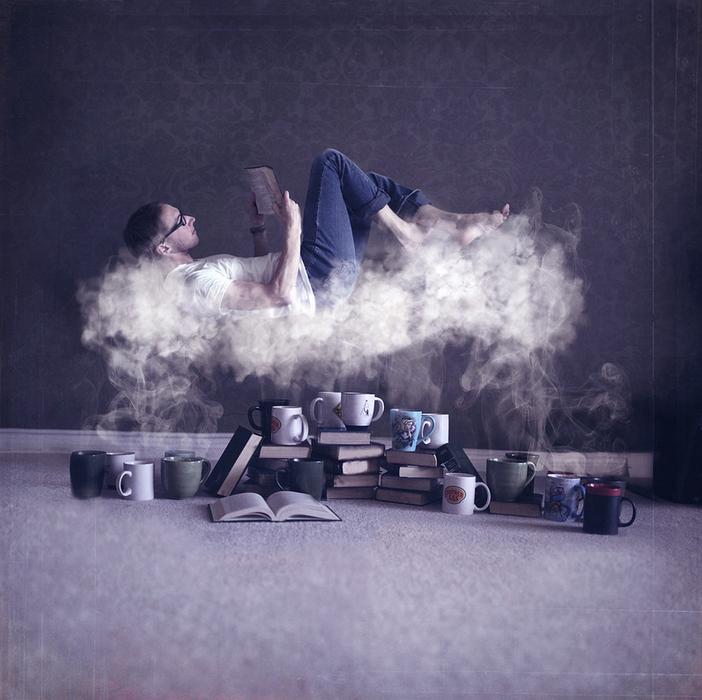 leyendo en una nube