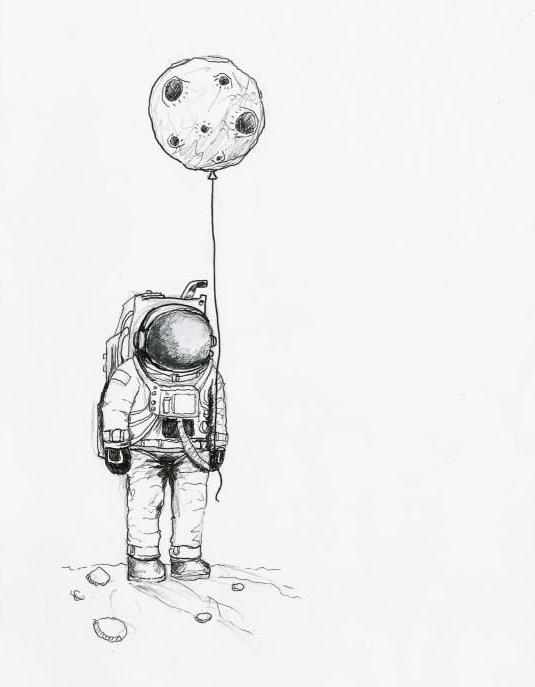 astronauta con luna