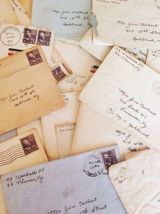 cartas escritas a mano